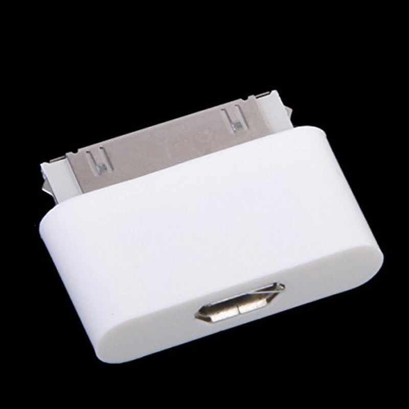 Micro USB to 30 pin Female/Male Charger Cable Adapter for Apple iPhone 4S 4 S 3gs iPhone4 iPhone4s iPod Mobile Phone Accessories