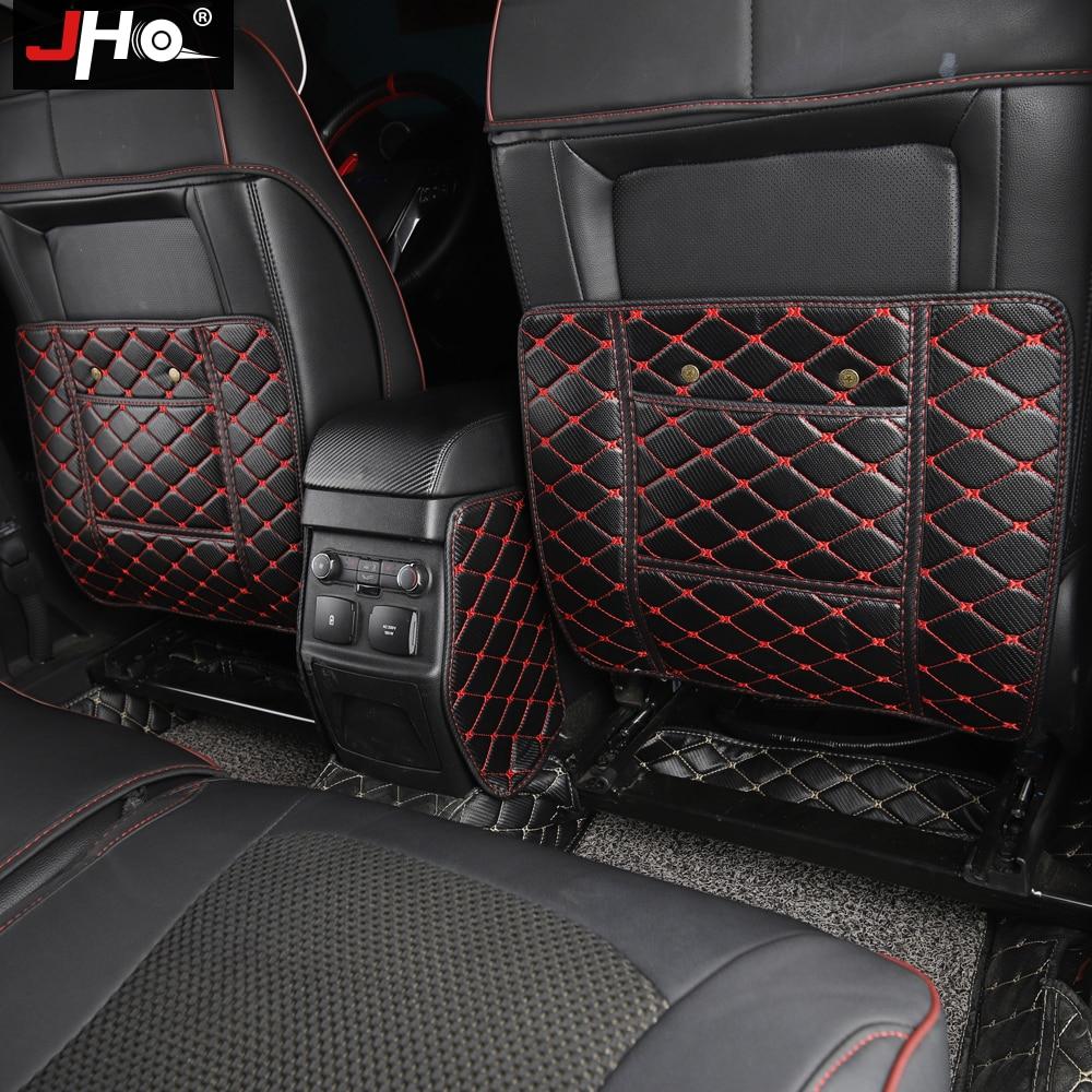JHO Car Seat Back Armrest Box Anti Kick Mats For 2011 2018 Ford Explorer 2013 2014