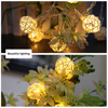 3M 20 LED String Lights Rattan Ball Garlands Holiday Wedding Party Decoration LED String Christmas Fairy Light For Outdoor       3