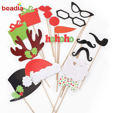 Funny Take Photos Props Christmas Party Wedding Supplies Tree Glasses  Little Hat Star Gift Patten Wholesale 7c00345feca
