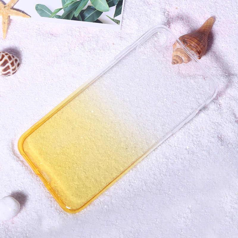 Роскошный цветной градиентный мягкий резиновый чехол для iPhone 6 6s 7 8 6 Plus 6s Plus 7 Plus 8 Plus XS Max XR X 10 прозрачный тонкий чехол для сотового телефона i