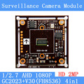 2MP1920*1080 AHD CCTV 1080P Camera Module Circuit Board , 1/2.7 CMOS GC2023 + V30 (FH8536) 2000TVL PCB Board PAL / NTSC Optional