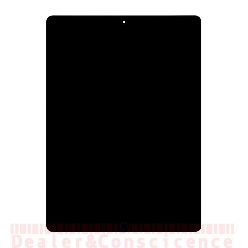 1 pièces Pour iPad 6 écran lcd Assemblée (Chaque A Testé) pour iPad Air 2 A1566 A1567 écran tactile panneau numériseur Lentille + Accueil Bouton