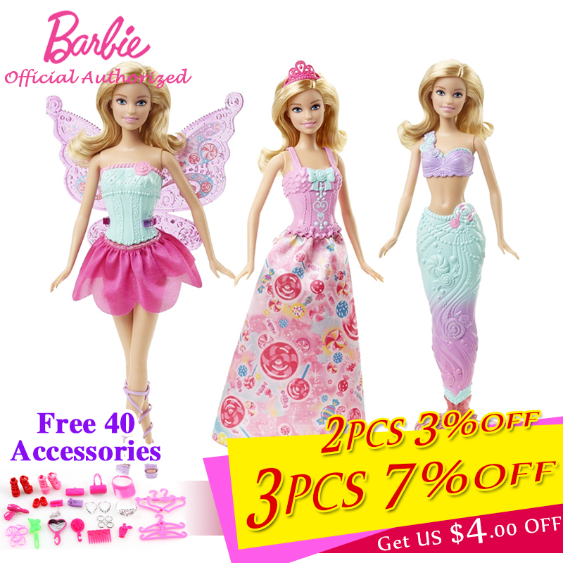 Barbie Brand Collection Doll Fairytale Beautiful Baby Toy Dress Up Butterfly Barbie Boneca Mode DHC39 For Children Present