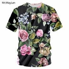 3D Flowers Floral Print Tshirt Women/Men Hip Hop Streetwear T-shirt Teen Girl Modis Tee T shirt 2018 Black Tops Clothes camisas недорого