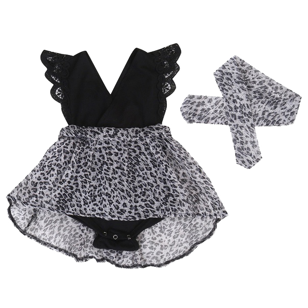 HOT SALE Summer Chiffon Baby Girls Kids Romper Party Pageant 90