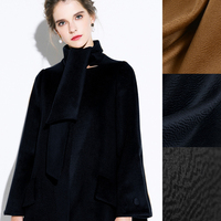 Top Quality 150CM Wide 820G M Weight Double Faced Water Wave Thick Cashmere Wool Autumn And