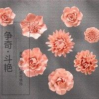 Розовый пион Роза декоративные настенные цветок посуда фарфор декоративные тарелки старинные домашнего декора ремесленных ремесел украше...