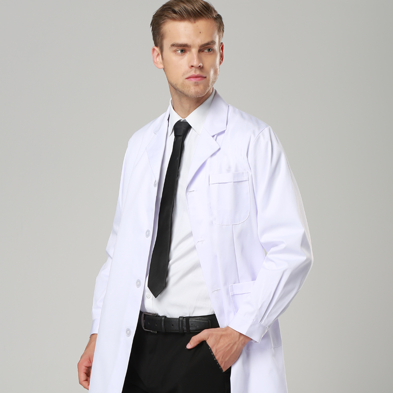 Mens Lab Coat Robe Medical  Hospital  White Medical Gowns  Women And Men  Coat Dentist Doctor Work Wear