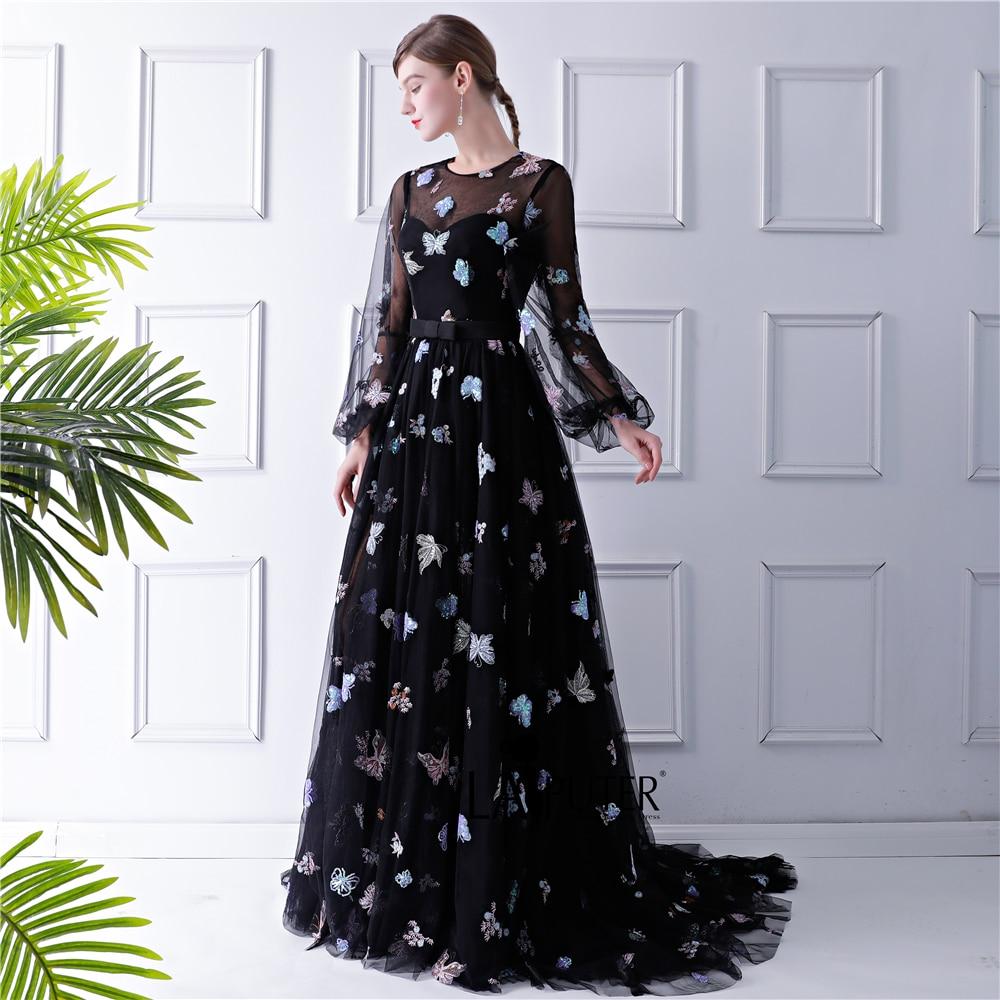 Black Dress with Train