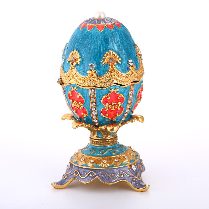 Handmade Hollow Egg Craft Jewelry Box Europe Style Faberge Ornaments Decor Gifts