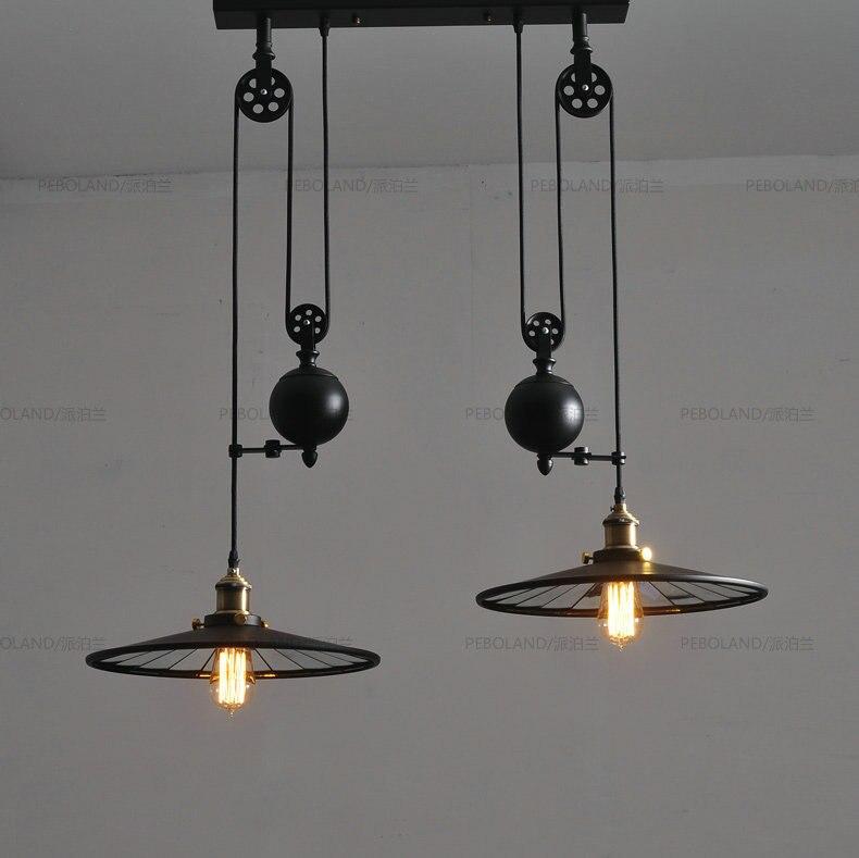 Průmyslové Loft vintage Přívěsek světlo lampy lustr de lustr de laparas para sala lampa AC 110V nebo 220V Doprava zdarma