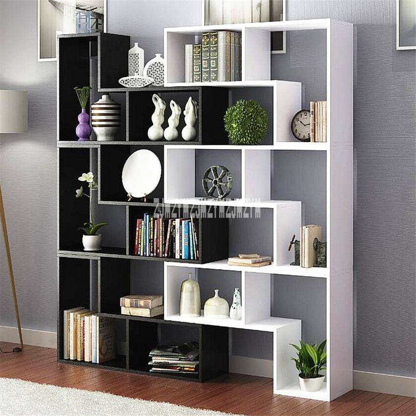 8859 Display Cabinet Multi-Color Living Room Wine Cabinet Modern Bedroom Book Rack Children Landing Wooden Bookshelf Bookcase