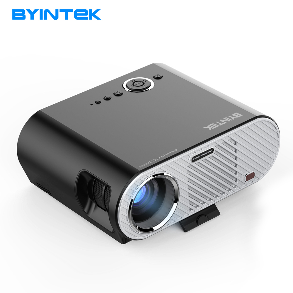 BYINTEK projector GP90UP 1280x800 Smart Android Wifi Cinema USB Full HD Video WXGA LED HDMI VGA 1080P Home Theater Projector проектор 1800lumens hdmi usb vga hd 1080p wifi 3d led 400