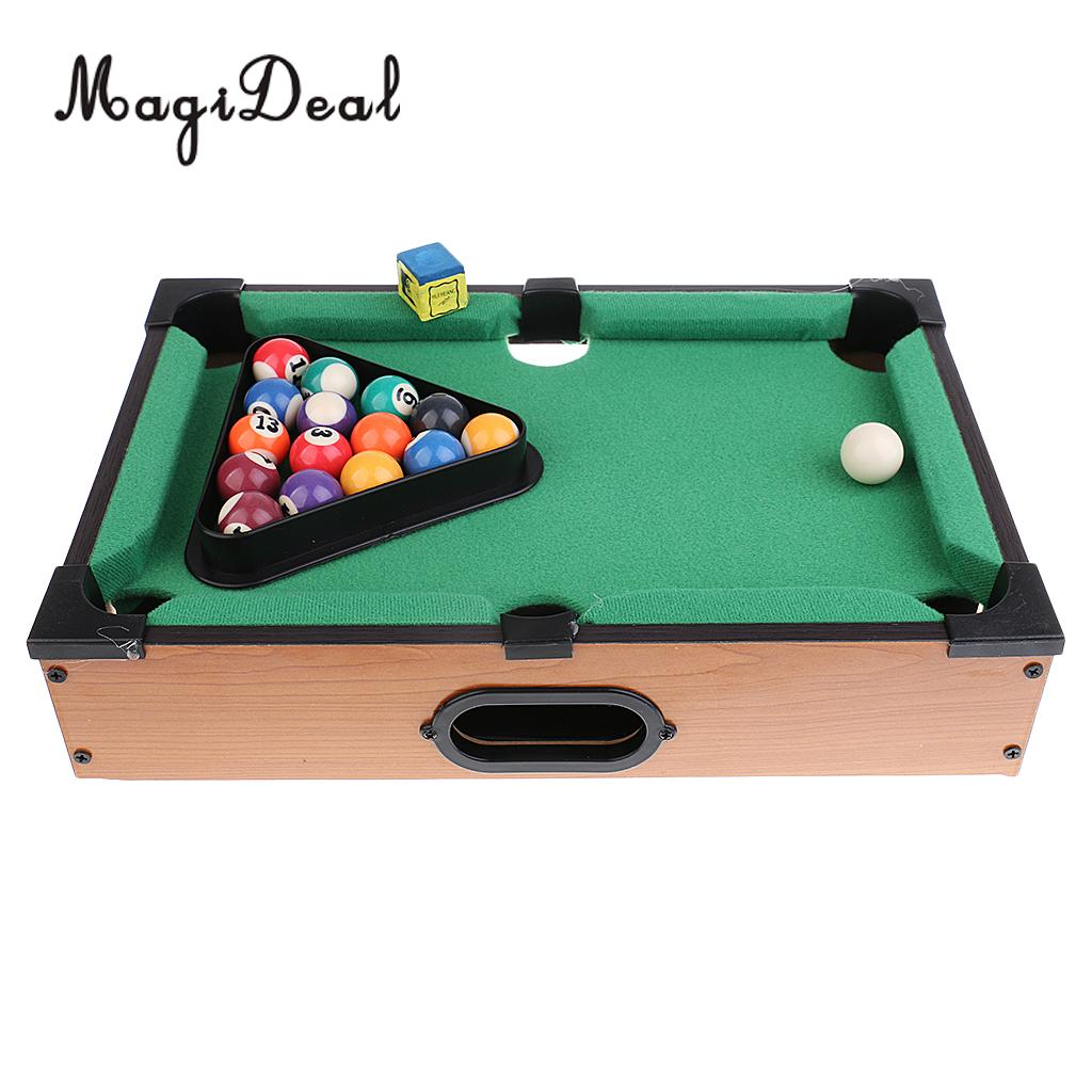 MagiDeal Mini Billiard Ball Snooker Tabletop Pool Table Desktop Game ...