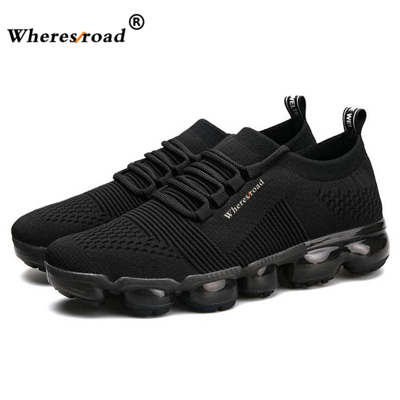 Black grey 44 Air Max Chaussures Sneaker red Haute Confortable Taille Léger Hommes Qualité Casual Mode 2018 Whereroad Neuf De Gris Mesh Super f76bgYvy