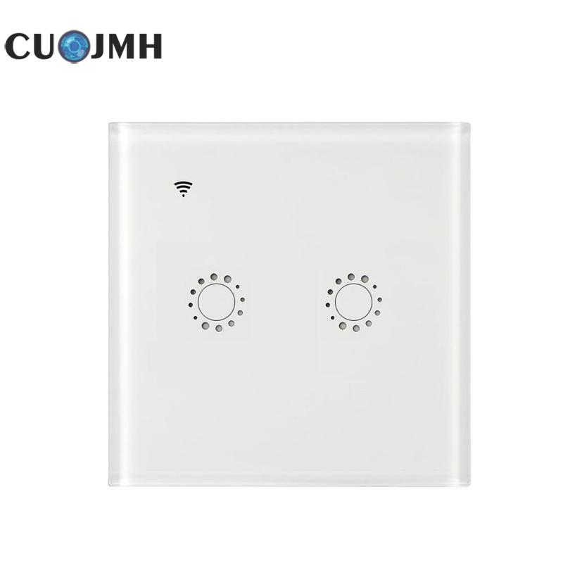 1 Pcs 2 Open Rf Wifi Switch Touch Control Wall Light Switch Smart Home Module Voice Remote Control Intelligence Switch original pm50rsa060 intelligence module