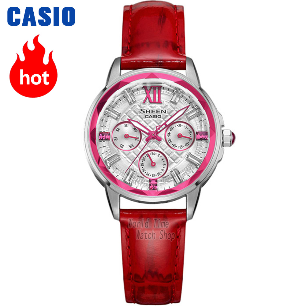 Casio watch Fashion business casual ladies watch SHE-3029L-7A2 SHE-3029PGL-7A casio watch casual business waterproof quartz ladies watch shn 4019dp 4a shn 4019dp 7a shn 4019lp 7a