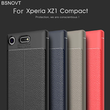For Sony Xperia XZ1 Compact Case Soft Leather Style Anti-knock Case For Sony Xperia XZ1 Compact Cover For Sony XZ1 Compact Case g case slim premium чехол для sony xperia xz1 compact black