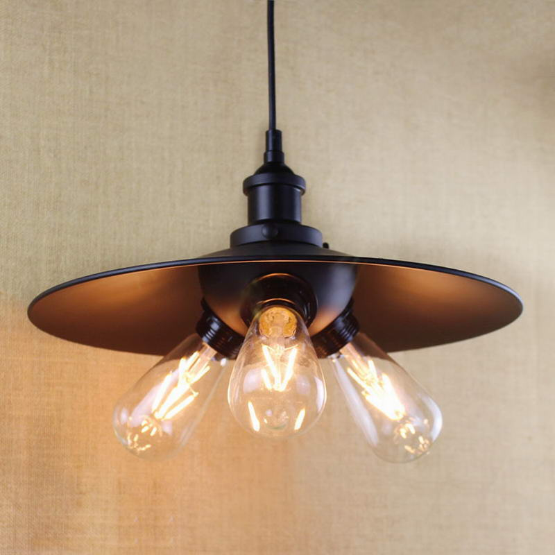 antique black pendant lamp For Kitchen Lights Cabinet Living/dining room/Edison Simple metal shade cover Pendant Light Fixture a1 master bedroom living room lamp crystal pendant lights dining room lamp european style dual use fashion pendant lamps
