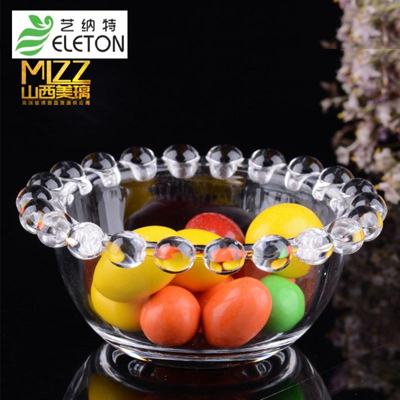 ELETON glass bead bowl originality collocation tableware breakfast dish dessert dish salad bowl Sugar & Creamer Pots