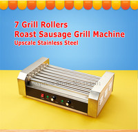Hot Dog Roller Grilling Machine Stainless Steel Commercial Quality Hotdog Maker with 7 Grill Rollers