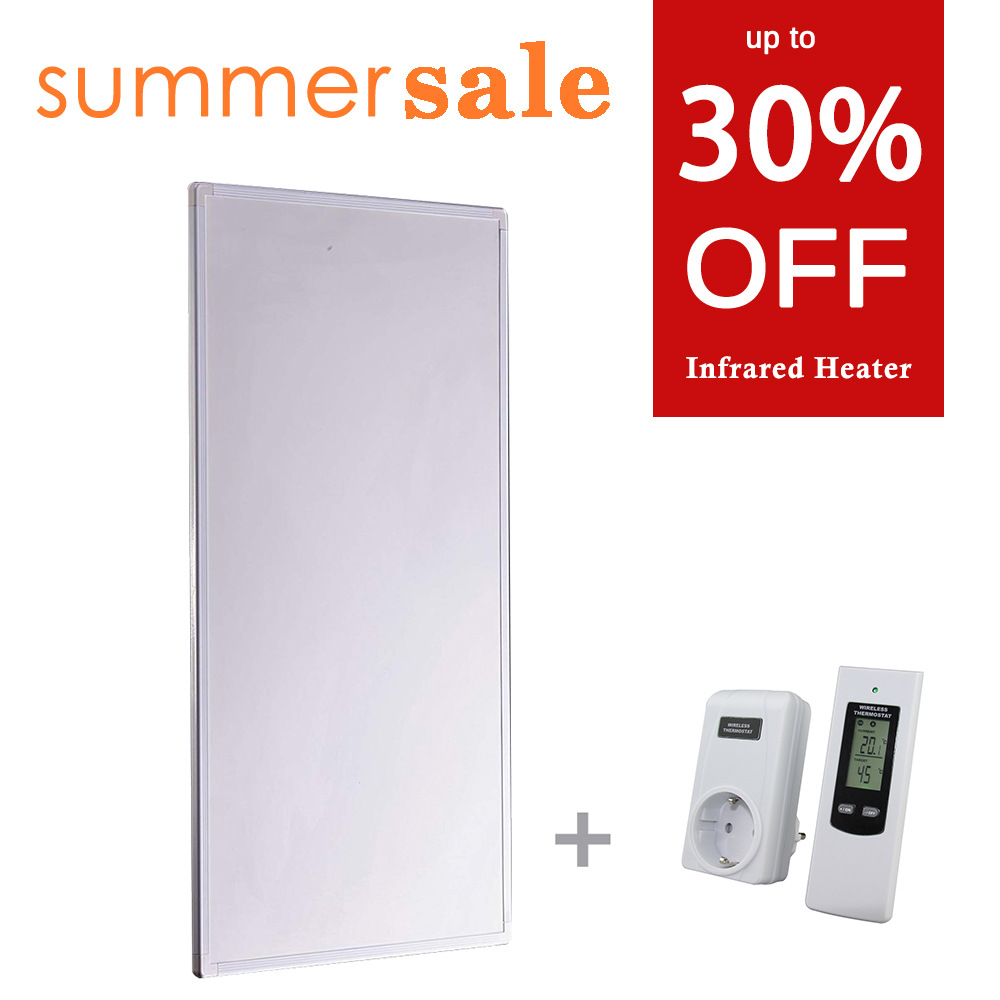 600W Infrared Panel Heater with Thermostat Energy Saving Summer Sale DE