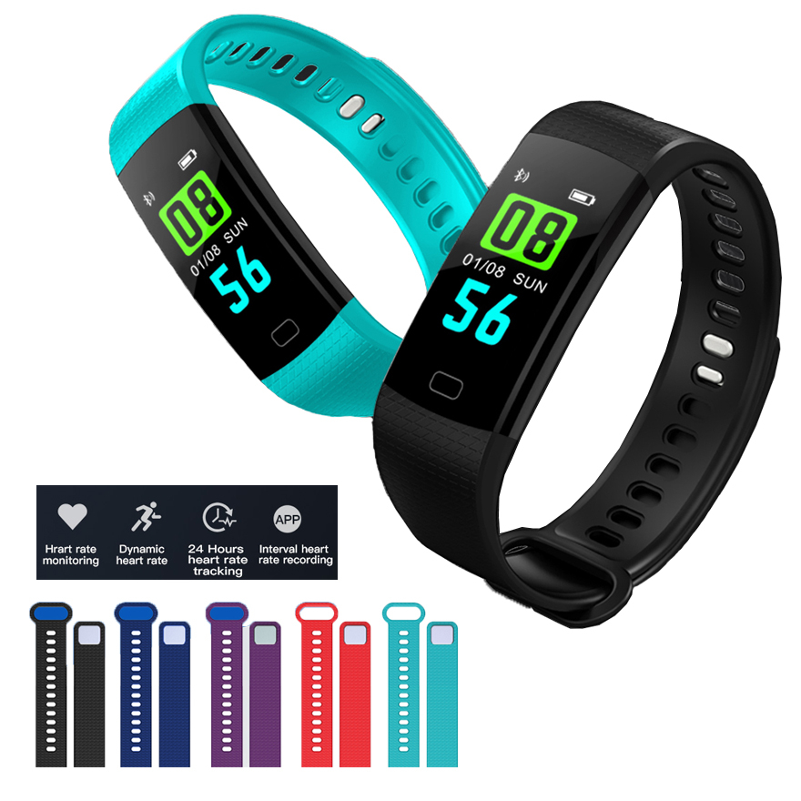 Color Screen Smart Wristband Message Fitness Tracker IP67 Waterproof Blood Pressure Heart Rate Monitor Smart Bracelet Band цена 2017