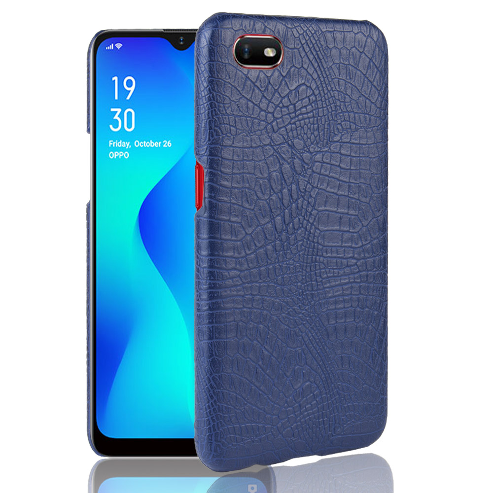 Oppo A1k Case Oppo A1K A 1K Retro PU Leather Crocodile Skin Hard Protective Back Cover For Oppo A1k CPH1923 Phone Fitted Case