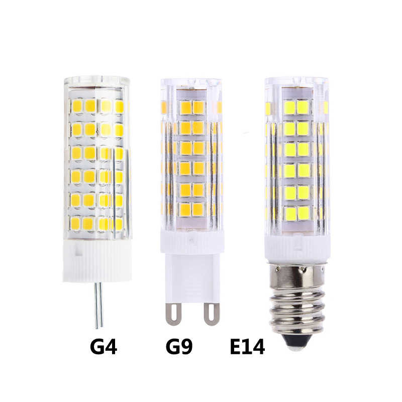 1-10PCS G4 G9 E14 LED Bulb Lamp AC 220V 5W 7W 9W SMD 2835 LED Corn light Cold White Warm White Light Replace Halogen Chandelier
