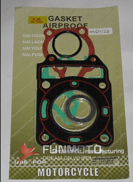 CYLINDER GASKET OF CF 125 CF CH125 WATER ENGINE FOR SCOOTER  UPPER AND LOWER CYLINDER GASKET AND SMALL GASKTES