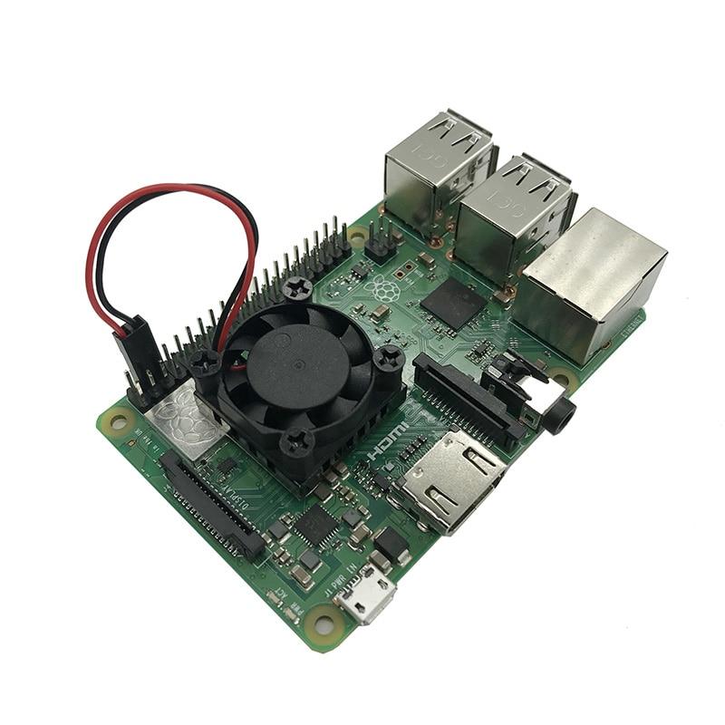 Raspberry-Pie-3B-Fan-heatsink-Suite-module-with-blue-heatsink-sticker-25-25-13mm