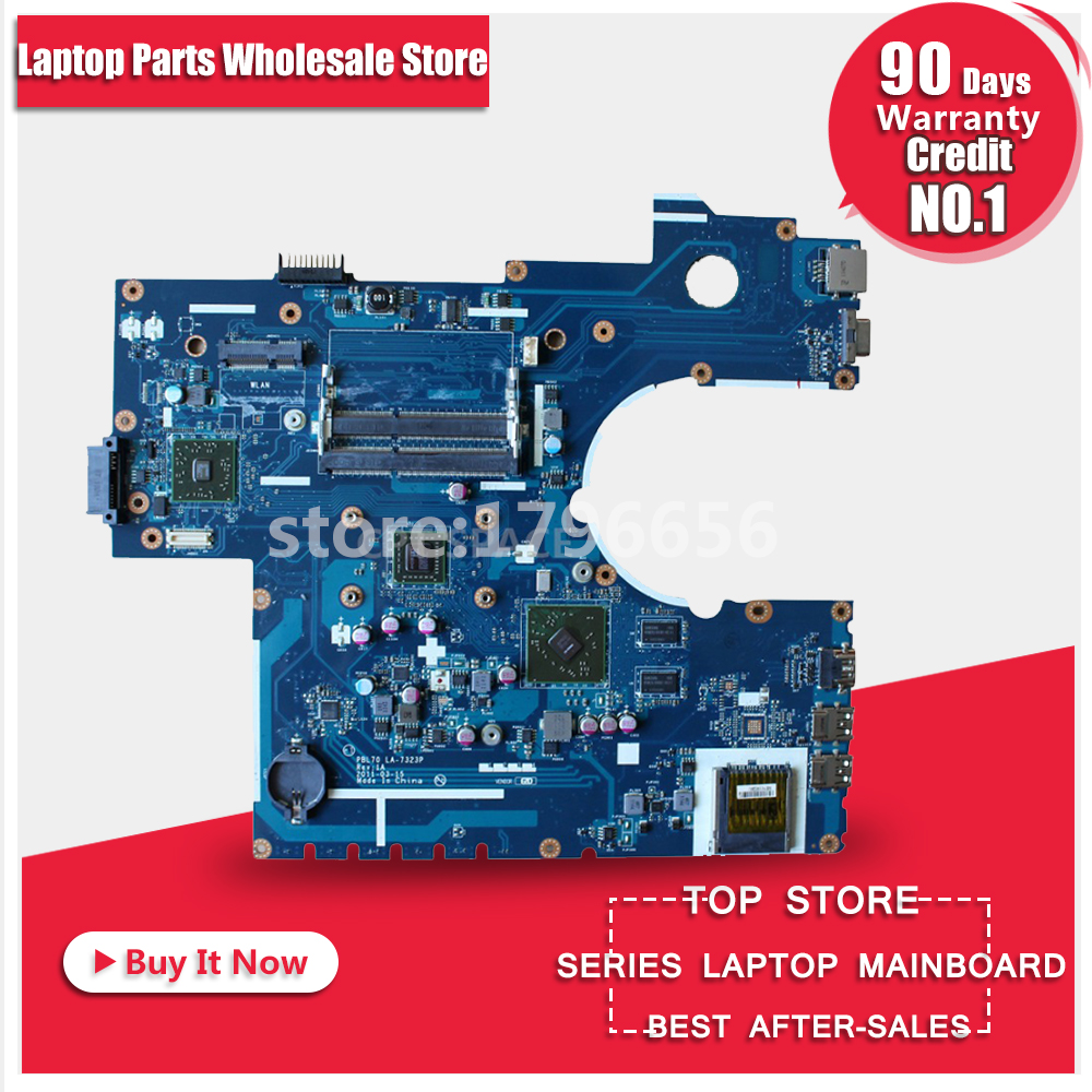 PBL70 LA-7323P Rev: 1A with CPU For ASUS Laptop motherboard X73B K73B K73BY K73BR 4 pieces video memory DDR3 Almost New original new laptop motherboard for asus pbl70 la 7323p rev 1a with cpu fit for k73b x73b mainboard