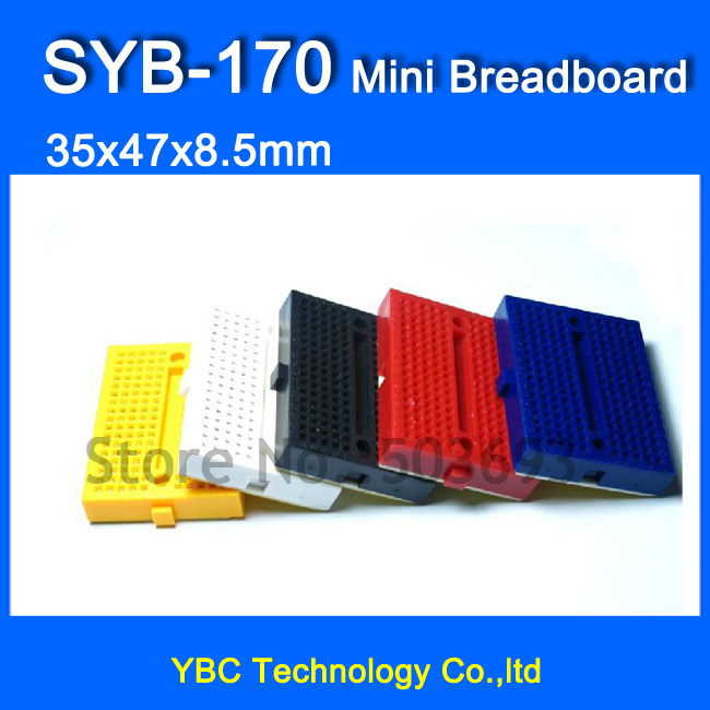 Tireless Free Shipping 50pcs/lot Syb-170 Solderless Prototype Experiment Test Mini Breadboard Syb 170 Tie-points 35*47*8.5mm Extremely Efficient In Preserving Heat Rigid Pcb