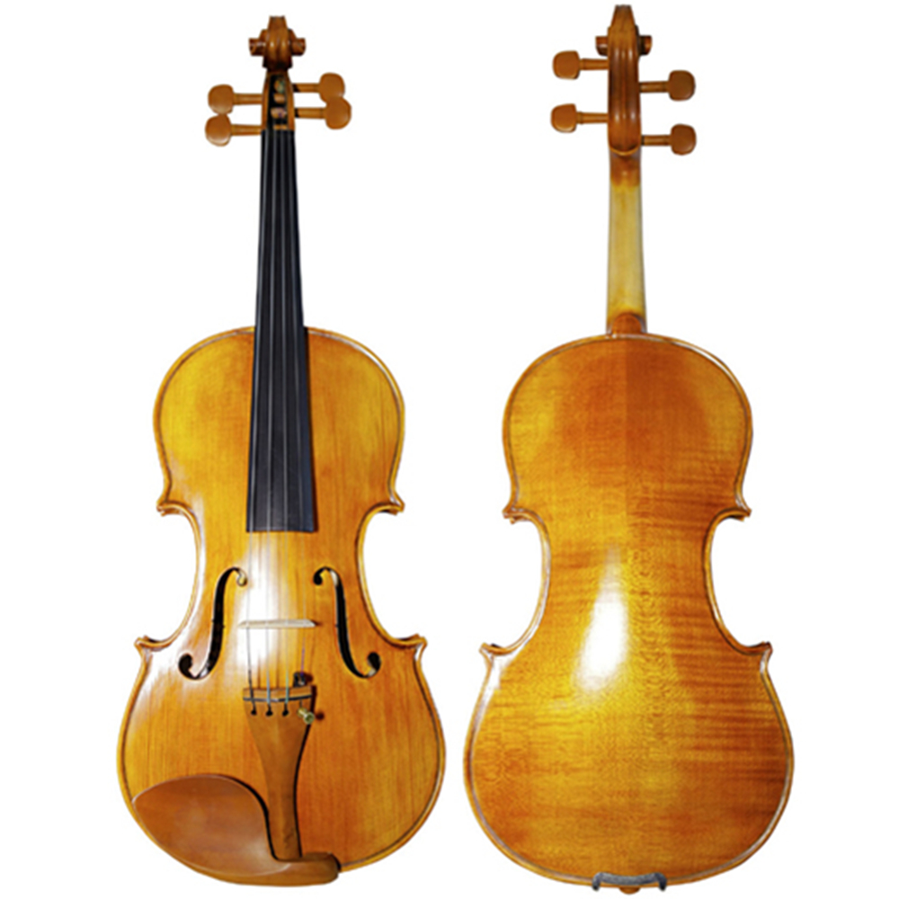 Hand-craft Oil Varnish Violin Natural Stripes Maple 4/4 3/4 Violino Stringed Musical Instrument with Accessories TONGLING Brand image