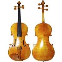Hand Craft Oil Varnish Violin Natural Stripes Maple 4 4 3 4 Violino Stringed Musical Instrument