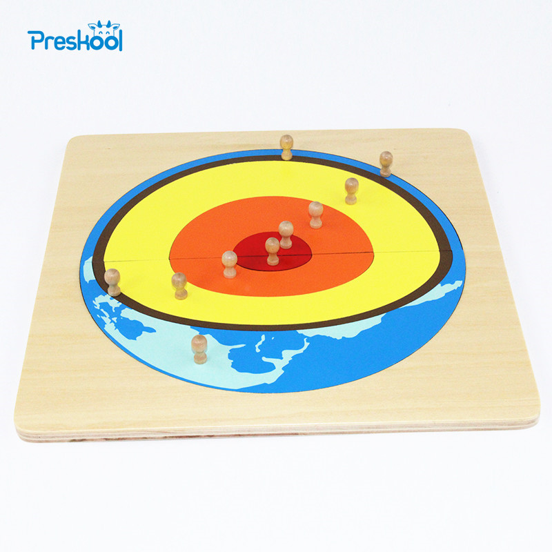 Baby Toy Montessori Solar Core Puzzle With Box Early Childhood Education Preschool Training Kids Brinquedos Juguetes