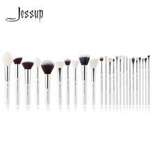 Джессап набор кистей жемчужно-белый/серебристый Профессиональные кисти для макияжа Наборы основу составляют инструмент для чистки кисти порошок краснеет