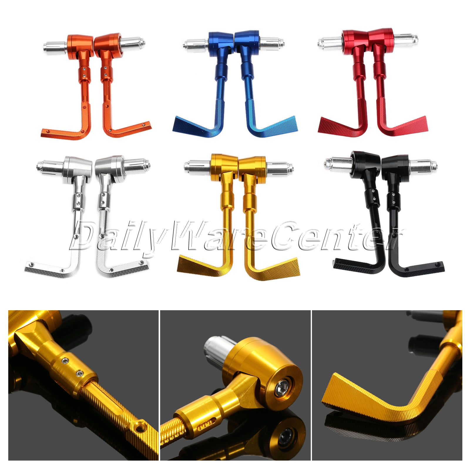 Universal 7/8 22mm CNC Handlebar Brake Clutch Protector Motorcycle Lever Guard Proguard for HONDA KAWASAKI KTM YAMAHA universal 7 8 22mm cnc handlebar protector lever brake clutch protect motorcycle guard proguard for ktm honda 990 2008 013