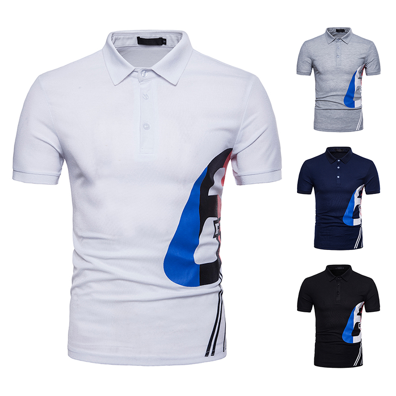 Big Size Brand Clothing Men   Polo   Shirt Men Geometric Pattern Stitching   Polo   Shirt Short Sleeve Breathable Casual   Polo   Homme