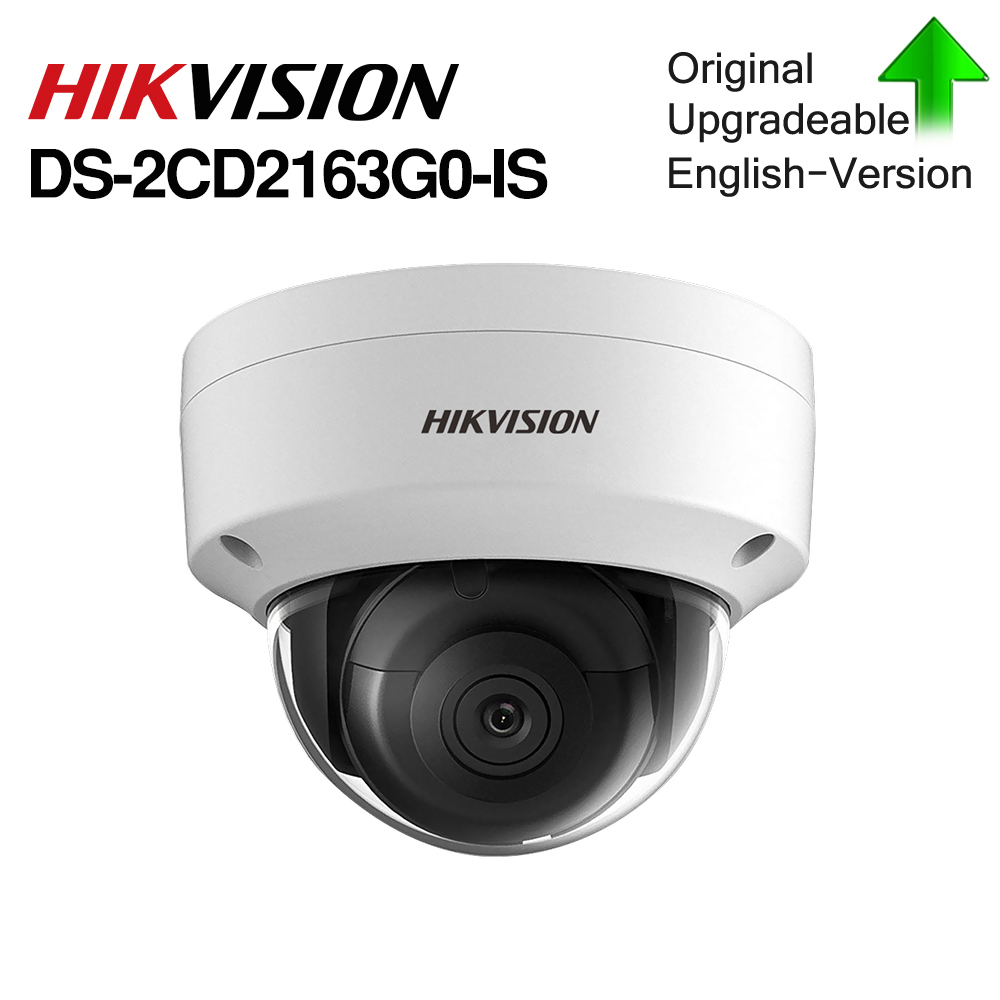 Hikvision Original 6mp IR Fixed Dome Network camera DS-2CD2163GO-IS With SD CARD SLOT 120dB WDR outdoor With Audio&POEHikvision Original 6mp IR Fixed Dome Network camera DS-2CD2163GO-IS With SD CARD SLOT 120dB WDR outdoor With Audio&POE
