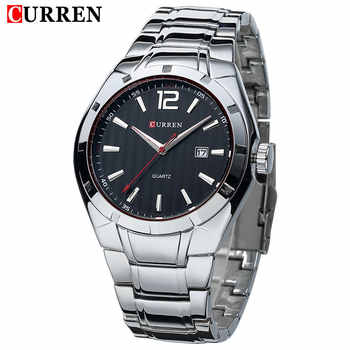 2018 New CURREN Luxury Brand Men Sport Watches Men Quartz Watch Stainless Steel Men Fashion Casual Wrist Watch Relogio Masculino - DISCOUNT ITEM  44% OFF All Category
