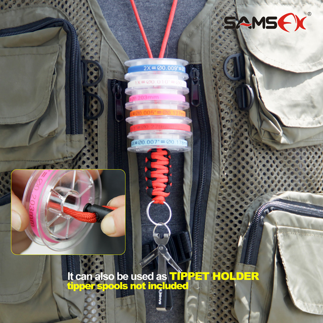 SAMSFX Fishing Quick Knot Tool Fast Tie Nail Knotter Fly Tying Line Cutter Clipper Nipper w/ Zinger Retractor Tackle Accessories 5