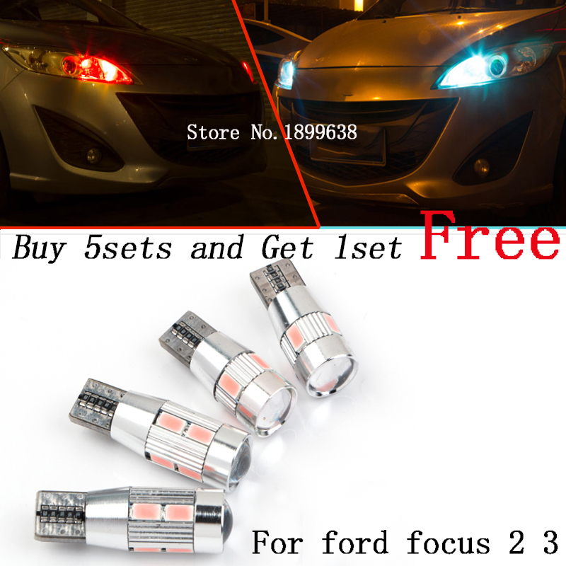2pcs safe No error T10 light 194 W5W high brightness LED Canbus for ford focus 2 3 fiesta mondeo ecosport kuga drl