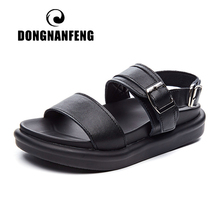 DONGNANFENG Womens Female Ladies Cow Genuine Leather Mother Shoes Sandals Woman Casual Summer Cool Beach Soft Korean KML-2911