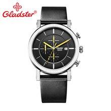 Gladster модные повседневные мужские часы с сапфировым кристаллом японский механизм MiyotaOS10