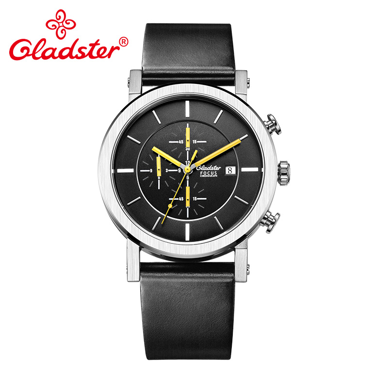 Gladster Luxury Japan MiyotaOS10 Fashion Male Wristwatch Casual Stainless Steel Man Quartz Watch Sapphire Crystal Man Clock Gift