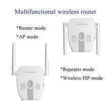 300Mbps مكرر اللاسلكية واي فاي 2.4Ghz موزع إنترنت واي فاي شبكة المنزل موسع طويل المدى مكبر للصوت AP راوتر مُعزز إشارة Wifi