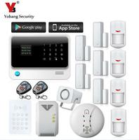 YoBang Security G90B Wireless WIFI GPRS GSM Home Safety Alarm System APP Control RFID Keyboard Smoke Sensor Gas Detector 433MHZ