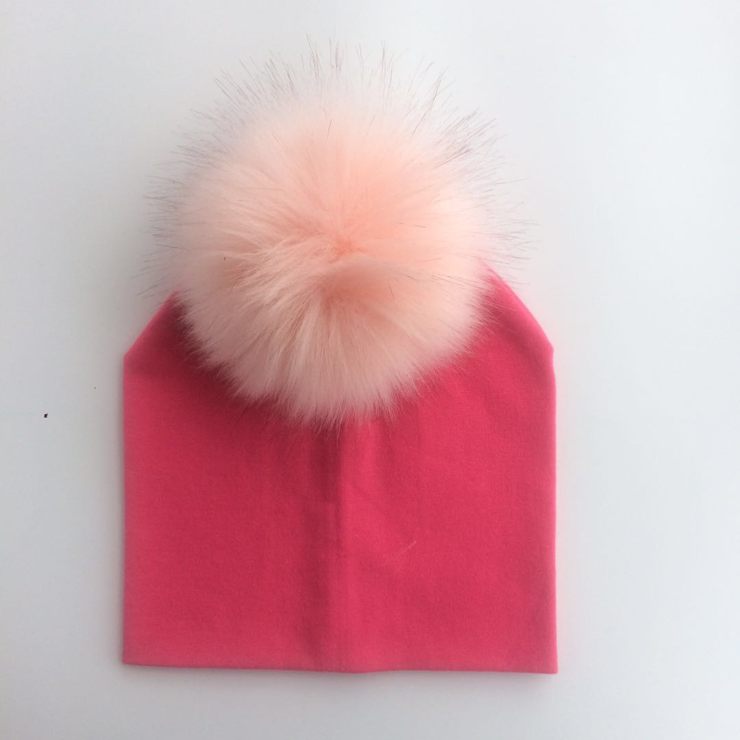 Child Baby Toddler Kids Girls Boy Warm Hat Winter Beanie Knitted Cap New infant cotton colorful raccoon faux fur pom pom hat cap rockdale mc001 50cm